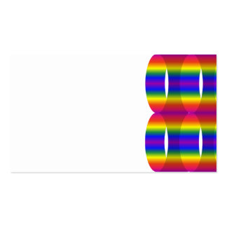CYLINDER RAINBOW OPTICAL ILLUSIONS DIGITAL ART BAC PACK OF STANDARD BUSINESS CARDS