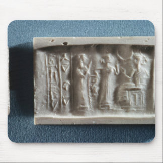 Cylinder seal depicting an evocation to the mouse mat