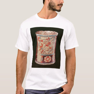 Cylindrical depicting a deity with speech curls T-Shirt
