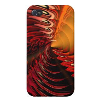 Cymbal Designer iPhone 4 Skin (Vermillion) iPhone 4/4S Case
