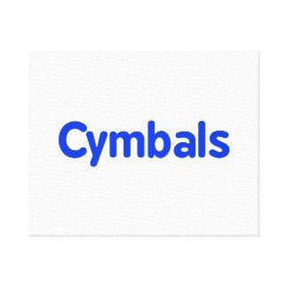 cymbals text blue canvas prints