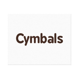 cymbals text brown stretched canvas print