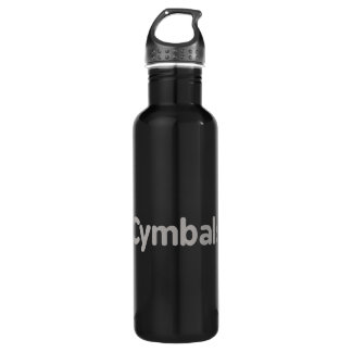 cymbals text grey 710 ml water bottle