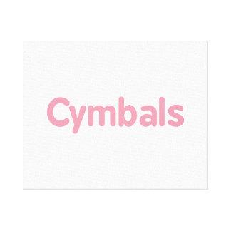 cymbals text pink canvas print