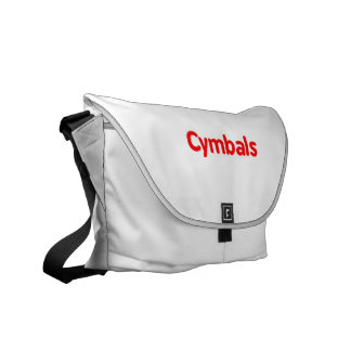 cymbals text red courier bag
