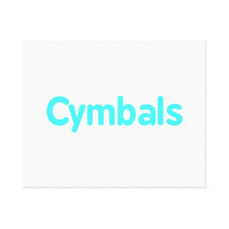 cymbals text teal gallery wrapped canvas