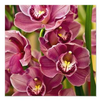 Cymbidium Orchid 13 Cm X 13 Cm Square Invitation Card