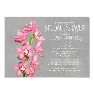 Cymbidium Orchid Bridal Shower Invitations