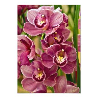 Cymbidium Orchid 13 Cm X 18 Cm Invitation Card
