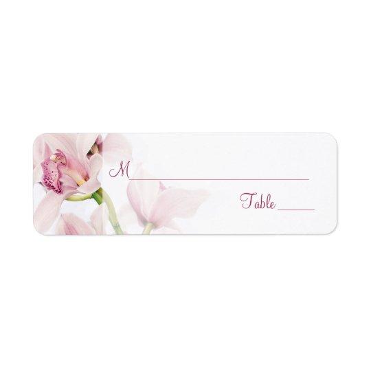Cymbidium Orchid Wedding Place Card Labels