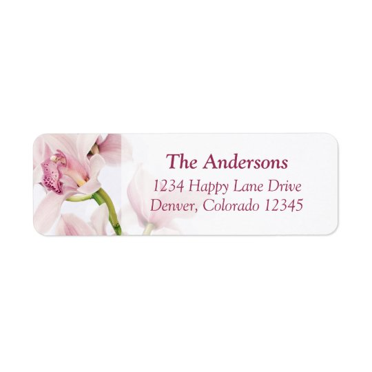 Cymbidium Orchid Wedding Return Address Labels
