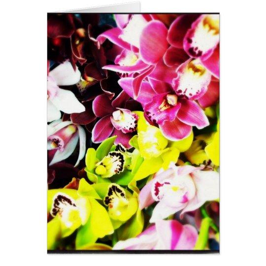 Cymbidium Orchids Blank Greeting Cards