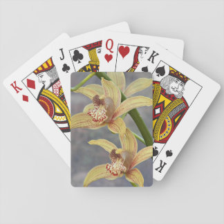 Cymbidium Orchids Floral Playing Cards