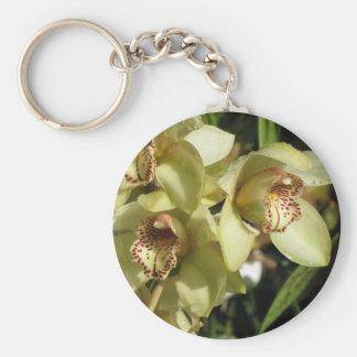 Cymbidium Orchids key chain