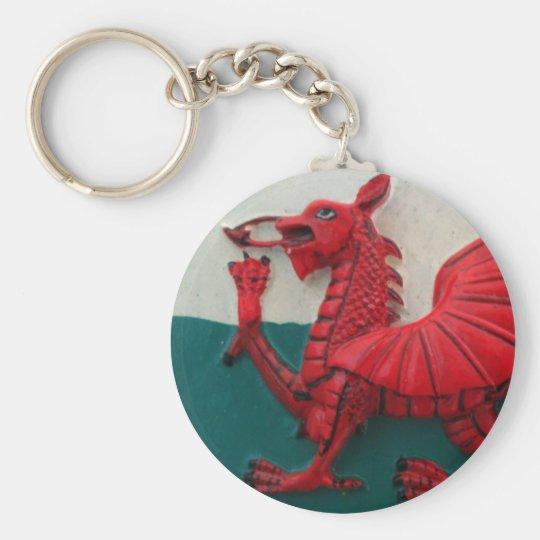 Cymru Am Byth Basic Round Button Key Ring