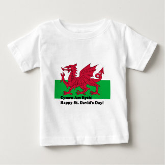 Cymru Am Byth - Happy St. David's Day Baby T-Shirt