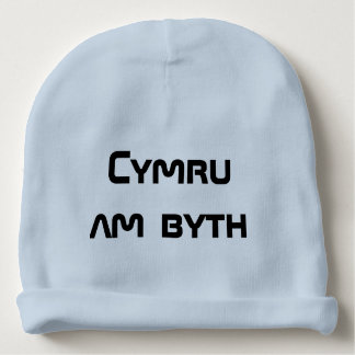 Cymru am byth, Wales for ever in Welsh Baby Beanie