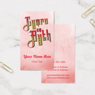 Cymru Am Byth Wales Forever Business Card Temp