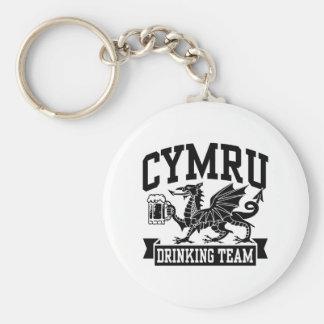 CYMRU Drinking Team Basic Round Button Key Ring