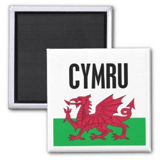 Cymru Square Magnet