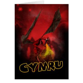 Cymru - St. David's Day Card - Welsh Red Dragon Ca
