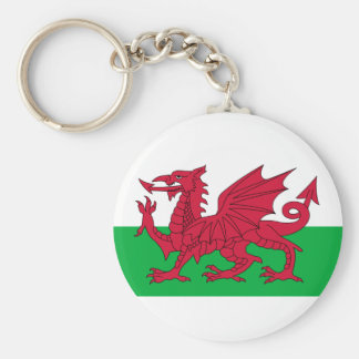 Cymru, the Celtic Nation of Wales Basic Round Button Key Ring