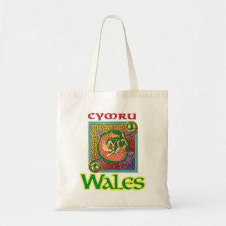 Cymru Wales Tote with Celtic Art