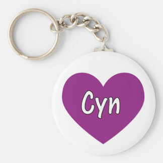 Cyn Basic Round Button Key Ring