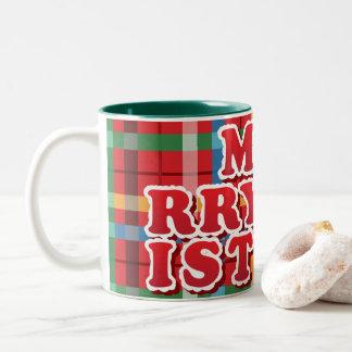 Cynical MEH-RRY-CHR-IST-MAS Two-Tone Coffee Mug