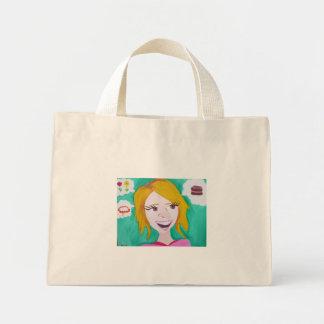 Cynthia thinks of girly things mini tote bag