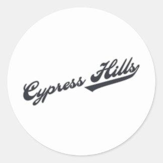 Cypress Hills Round Stickers
