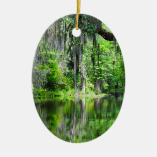 Cypress Lake Oval Ornament