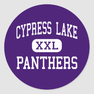 Cypress Lake - Panthers - High - Fort Myers Round Sticker