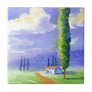 Cypress tree small square tile