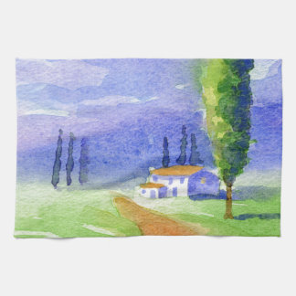 Cypress tree tea towel