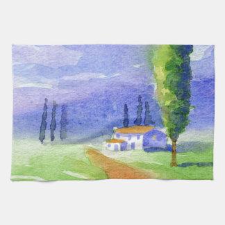Cypress tree tea towels