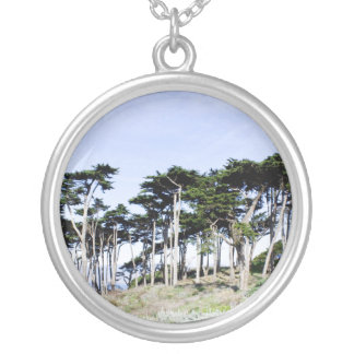 Cypress Trees at Sutro Park San Francisco Custom Necklace