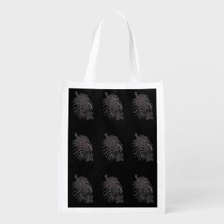 Cypress Vine flower print. Reusable Grocery Bag