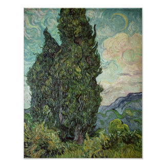 Cypresses, 1889 poster