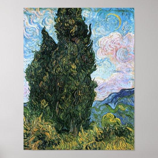 Cypresses, Vincent van Gogh Fine Art Poster