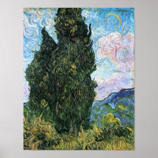 Cypresses, Vincent van Gogh Posters