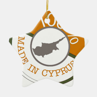 CYPRUS 100% CREST CHRISTMAS ORNAMENT