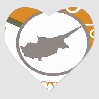 CYPRUS 100% CREST HEART STICKER