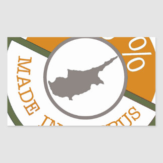 CYPRUS 100% CREST RECTANGULAR STICKER
