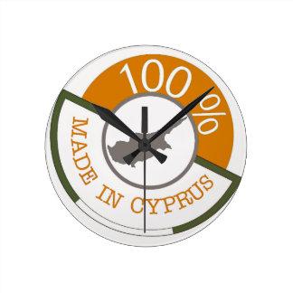CYPRUS 100% CREST ROUND CLOCK