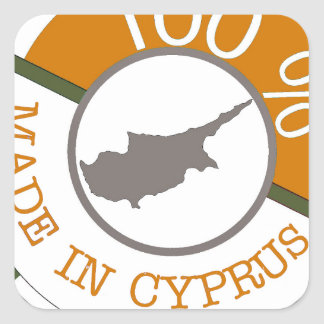 CYPRUS 100% CREST SQUARE STICKER