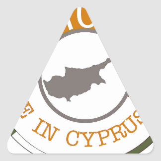 CYPRUS 100% CREST TRIANGLE STICKER