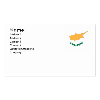 Cyprus Business Card Template