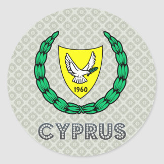 Cyprus Coat of Arms Classic Round Sticker