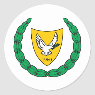 Cyprus Coat of arms CY Classic Round Sticker